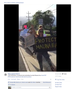 4-7-15 Maui protest Babes against humanity